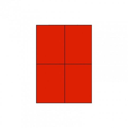 Etiquette en planche rouge 105 x 148,5 mm - Réf : 3391