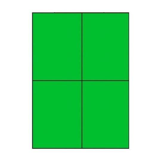 Etiquette en planche verte 105 x 148,5 mm - Réf : 3392