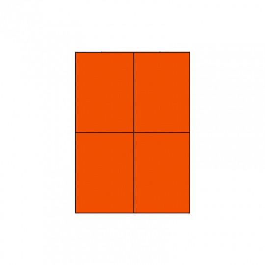 Etiquette en planche orange 105 x 148,5 mm - Réf : 4029