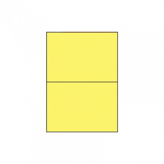 Etiquette en planche jaune 210 x 148,5 mm - Réf : 2628