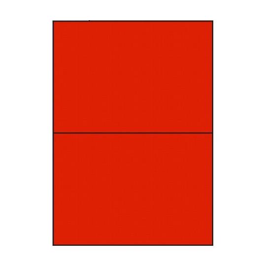 Etiquette en planche rouge 210 x 148,5 mm - Réf : 2629