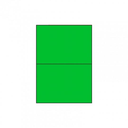 Etiquette en planche verte 210 x 148,5 mm - Réf : 2630