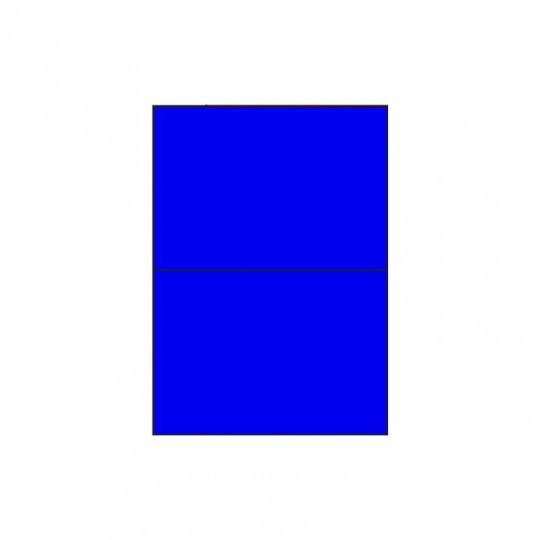 Etiquette en planche bleu A5 210 x 148,5 mm - Réf : 2631