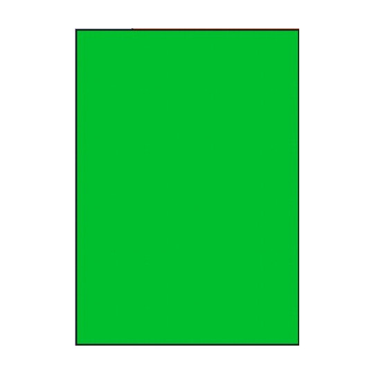 Etiquette en planche A4 verte 210 x 297 mm - Réf : 2634