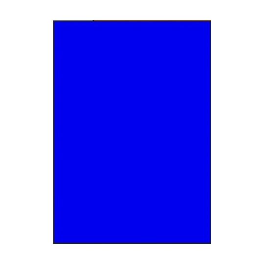 Etiquette en planche A4 Bleu 210 x 297 mm - Réf : 2635