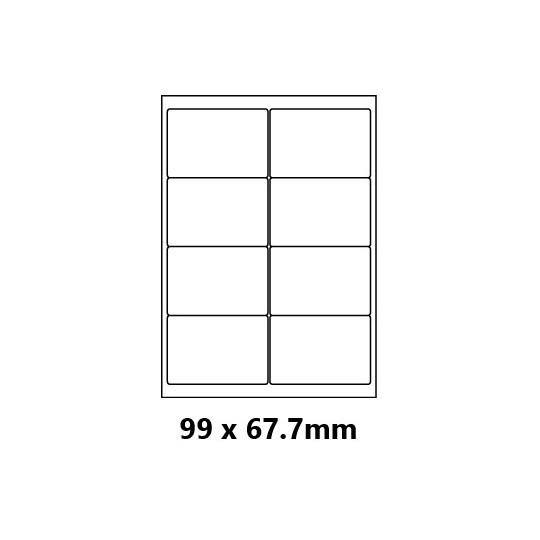 Etiquette en planche 99 x 67,7 mm - Réf : 0173