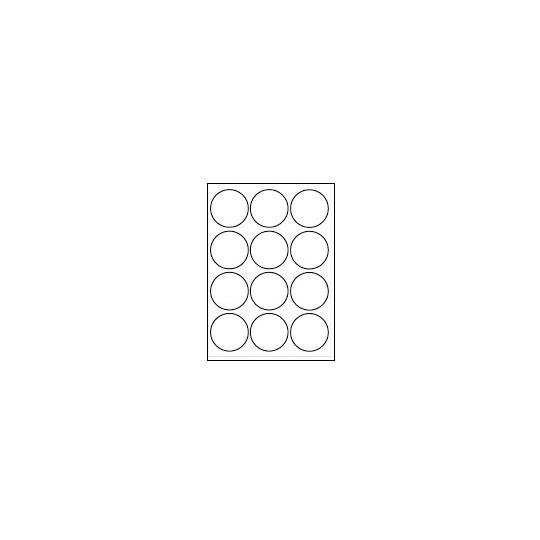 Etiquette en planche ronde diamètre 63,5 mm - Réf : 5461