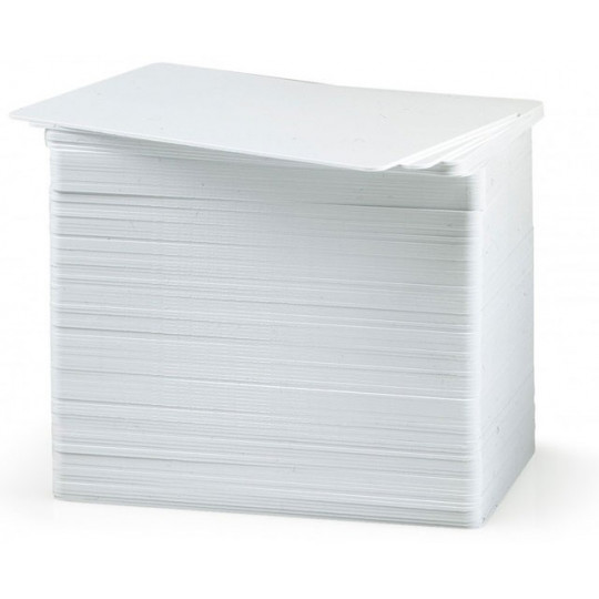 Carte PVC ZEBRA MIFARE vierge blanche 86x54mm - Réf: 800059-304