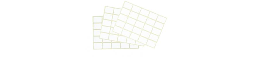 Étiquette adhésive en planche