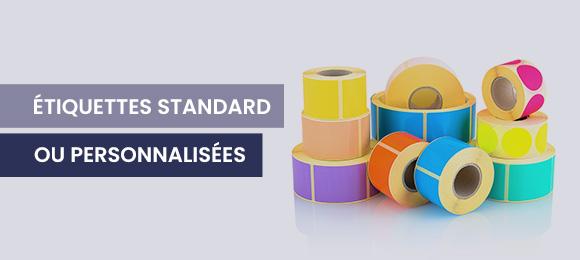 Etiquettes standard ou personnalisées